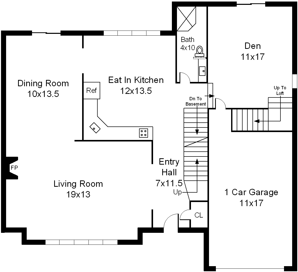 Floor plans of huntington village colonial for Colonial home floor plans