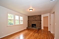 Huntington Maplewood Area - Family Room with Stone-Faced Fireplace